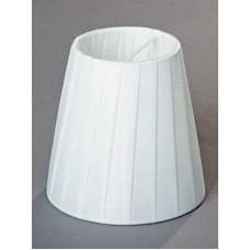 абажур Плиссе ушки Е14, 60Вт, ткань/ПЭ/белый, 13,5x9x12 см