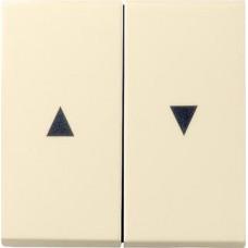 Лицевая панель Gira System 55 выключателя жалюзи кремовый глянцевый 029401