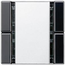 Пульт управления настенный плоский, 2 канал Jung A 500/A creation/A plus черный A42FSW