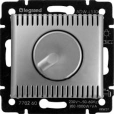 Диммер поворотный Legrand Valena 1000W алюминий 770260