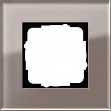 Рамка 1-постовая Gira Esprit дымчатое стекло 0211122