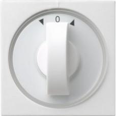 Лицевая панель Gira System 55 выключателя жалюзи чисто-белый глянцевый 066603