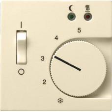 Лицевая панель Gira System 55 термостата теплого пола кремовый глянцевый 149401