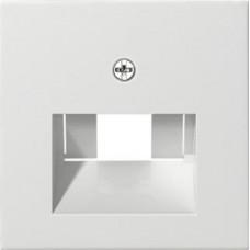 Лицевая панель Gira System 55 розетки компьютерной ISDN чисто-белый глянцевый 027003