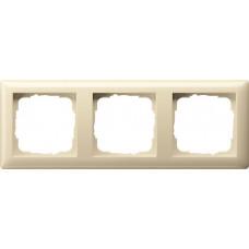 Рамка 3-постовая Gira Standard 55 кремовый глянцевый 021301