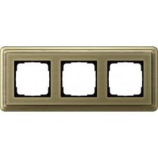 Рамка 3-постовая Gira ClassiX бронза 0213621