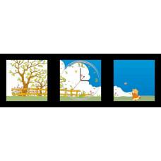 Часы-постер настенные Feron NL3 с питанием от батареек