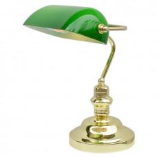 Настольная лампа офисная Banker A2491LT-1GO