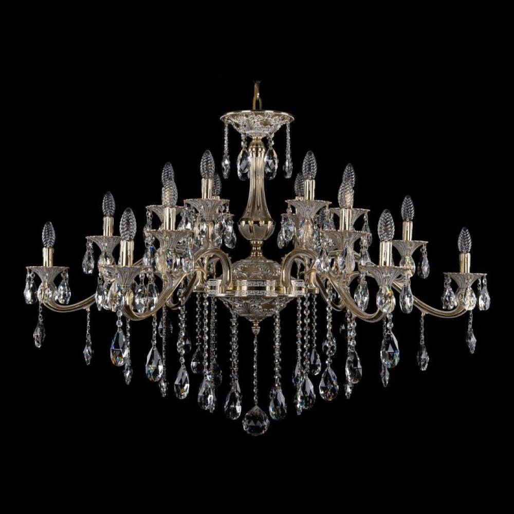 Подвесная люстра Bohemia Ivele Crystal 1709 1709/18/410/B/GW