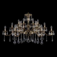 Подвесная люстра Bohemia Ivele Crystal 1709 1709/21/410/A/GB