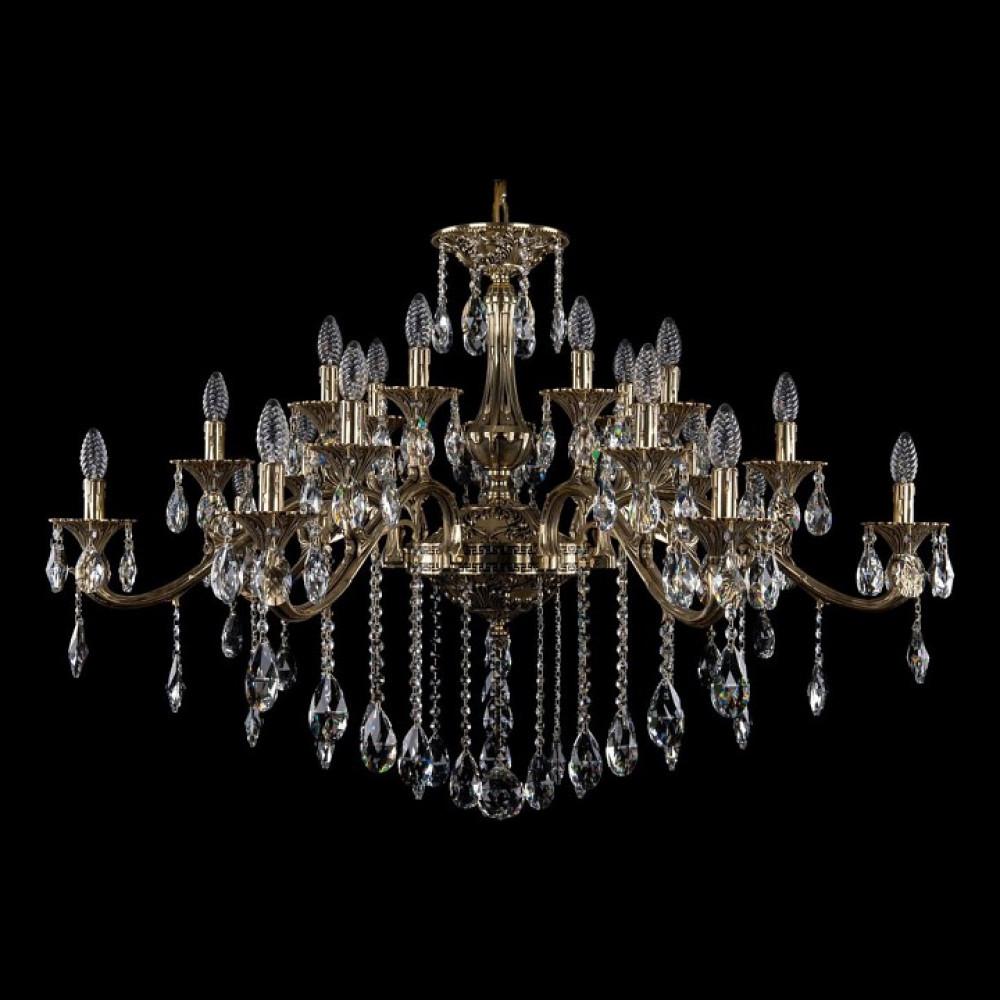 Подвесная люстра Bohemia Ivele Crystal 1709 1709/21/410/B/GB