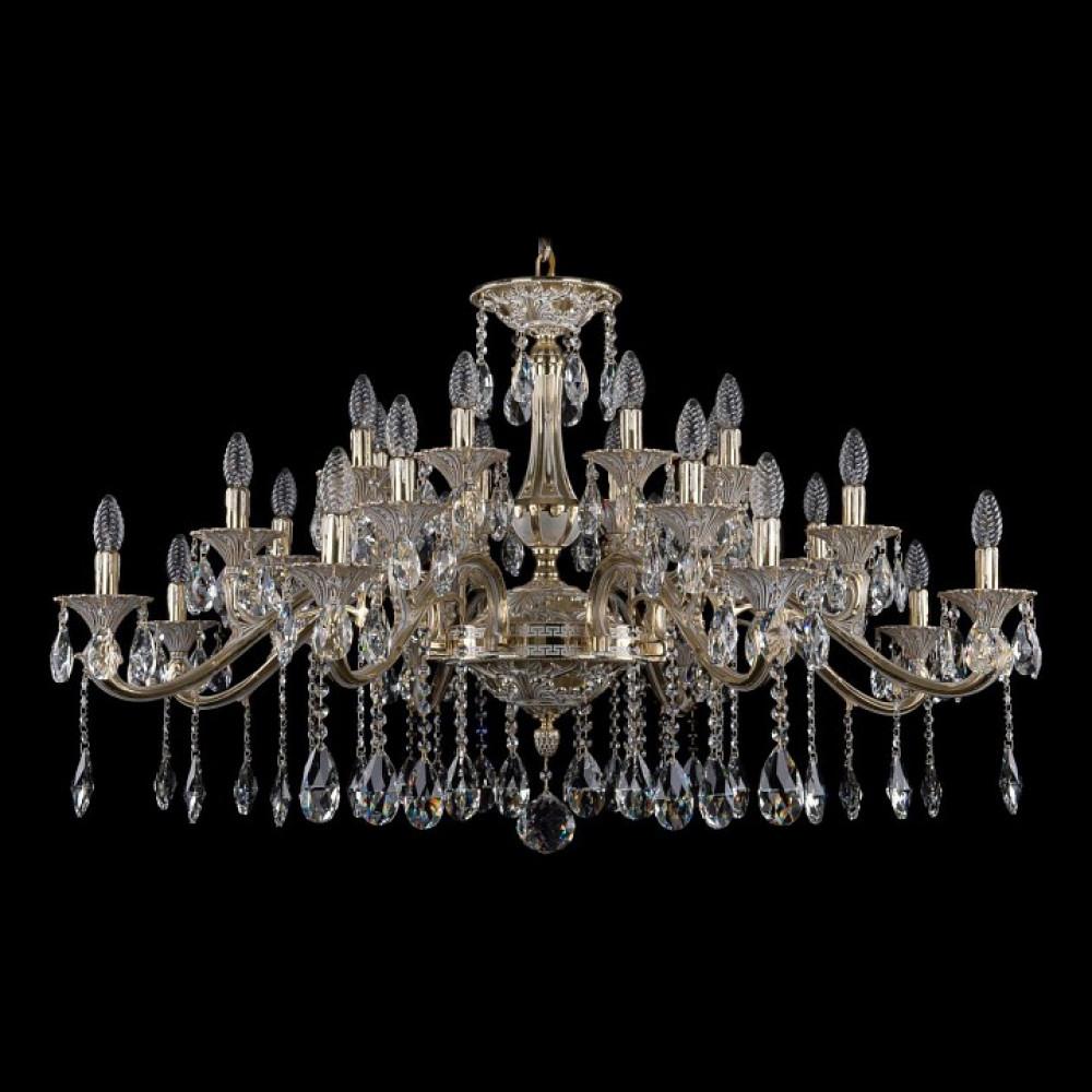 Подвесная люстра Bohemia Ivele Crystal 1709 1709/24/410/A/GW