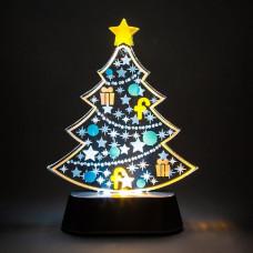 Ель световая (18.5 см) С украшениями 26959
