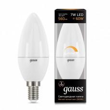 Лампа светодиодная диммируемая Gauss 1031 E14 7Вт 3000K 103101107-D