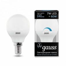 Лампа светодиодная диммируемая Gauss 1051 E14 7Вт 4100K 105101207-D