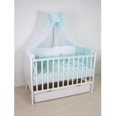 Комплект с одеялом детский Белые кудряшки