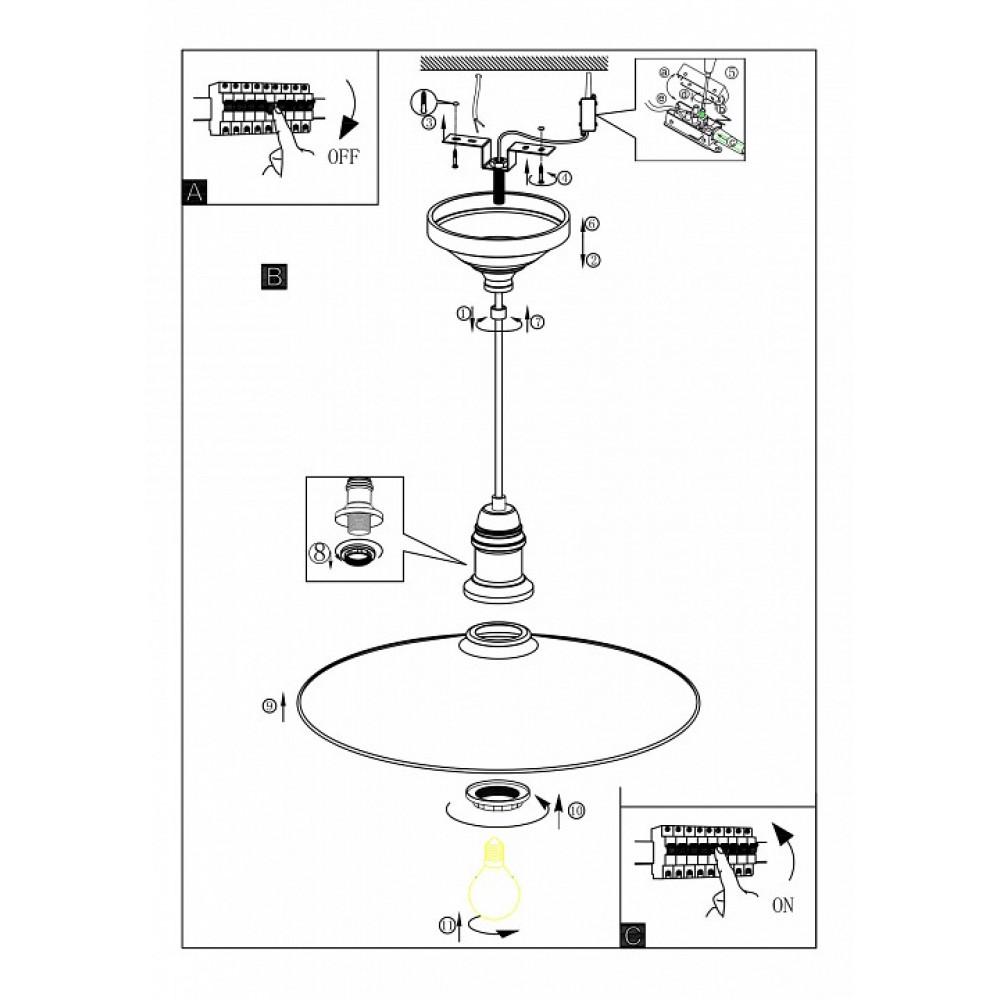 Подвесной светильник Bridport 49454